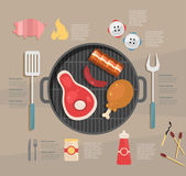 Infographic. barbecue — Stock Vector