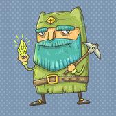 Cartoon gnome — Stock Vector