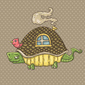 Turtle house — Stockvektor