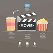 Movie. infographic — Stock Vector