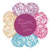 Decorative floral card — Stock Vector