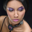 Beautiful woman with evening make-up. Jewelry and Beauty. Fashion art photo — Stock Photo