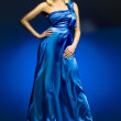 Stock Photo: Blue dress