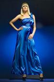 Blue dress — Stock Photo
