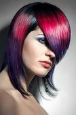 Cheveux colorérepas en plein air — Photo