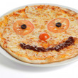 Smiling Pizza - Stock Photo