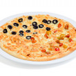 Pizza with olives - Stock Photo
