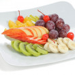 Stock Photo: Fresh fruits on plate