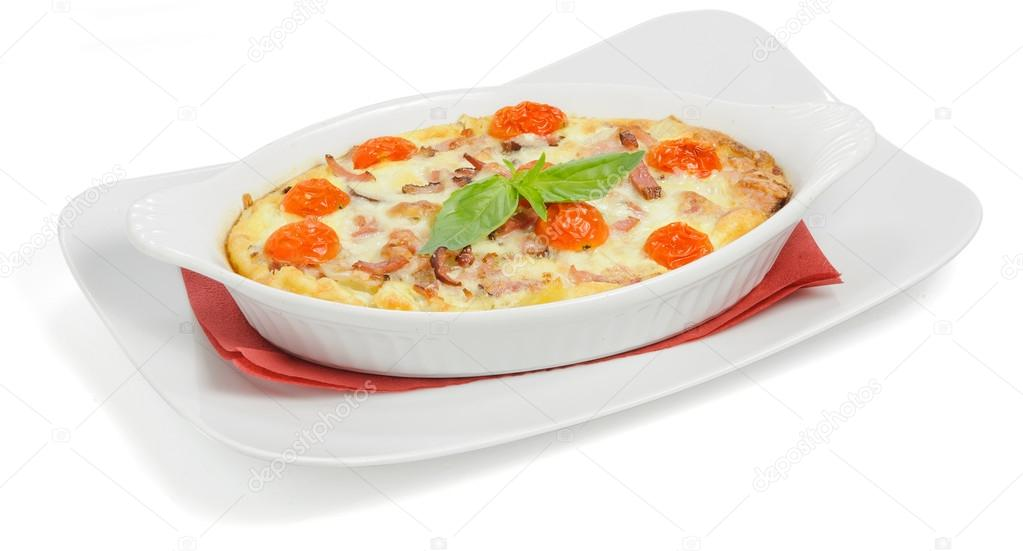 Casserole with tomatoes — Stock Photo #16316847