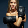 Sexy girl boxer — Stock Photo