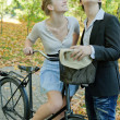 Stock Photo: Young and bicycle