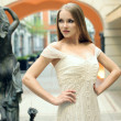Girl in a dress — Stockfoto