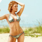 chica en la playa — Foto de Stock