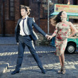 Dancing youth — Stock Photo