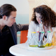 Young couple in restaurant — Stock Photo #16822243