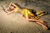 Gouden nimf — Stockfoto