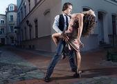 Tango on the street — Stock Photo