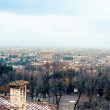 Aereal view of Brescia city from the castle - Foto Stock