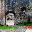 Castle main entrance, brescia - Foto Stock