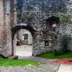 Castle main entrance, brescia — Stock Photo