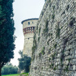 Castle main entrance, brescia - Stock Photo