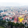 Aereal view of Brescia city from the castle - Stock Photo