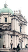 """Overview of the """"Piazza del Duomo"""" di Brescia — Stock Photo"""