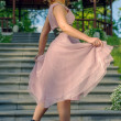 Girl in dress style Marlin Monroe — Stock Photo