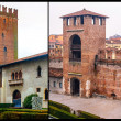 Stock Photo: Castelvecchino. verona, italy