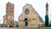 Basilica St. Zeno, Chiesa St. Procolo, Piazza, square, Verona, I — Stock Photo