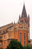 Chiesa St. Fermo, Verona, Italy, church — Stock Photo
