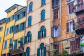 Piazza erba, verona, itálie — Stock fotografie