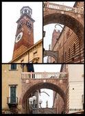 ・ デイ ・ ランベルティ トッレ、ヴェローナ、イタリア — ストック写真