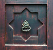Elements of the old door with a handle — Stock Photo