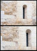 Windows ile antik duvar elemanları — Stok fotoğraf