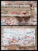 Fragment of famous Romeo home in Verona, Italy — Stock Photo