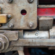 Details of an old steam locomotive — Stock Photo