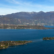 Coast of garda lake, desencano, italy (La Rocca, Isolda di san B - Stock Photo