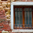 Brick texture with window in Gothic style — Stock Photo #19709171