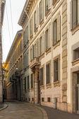 Streeta di milano, italia — Foto Stock