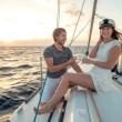 Romantic proposal scene on yacht — Stock Photo #29053997