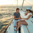 Romantic proposal scene on yacht — Stock Photo #29054273