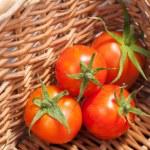 Ripe tomatoes on basket — Stock Photo #31671123