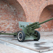Russian anti-tank devision 57-mm gun of the Second World War — Stock Photo