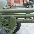 Mechanism of Russian anti-tank regiment 57-mm gun — Stock Photo #34923753