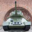 Tank T-34 front view — Stock Photo