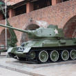 Tank T-34 Russian tank of the Second World War — Stock Photo