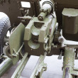 Breech of Russian anti-tank regiment 57-mm gun — Stock Photo