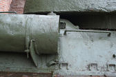 Intimate details of the tank T-34 — Stock Photo