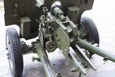 Breech of Russian anti-tank regiment 57-mm gun of the Second World War — Stock Photo